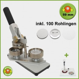 Buttonmaschine Typ 900 für 59 mm Buttons inkl. 100 Rohlinge + Kreisschneider Kreisschneider Hulahoop Maxi