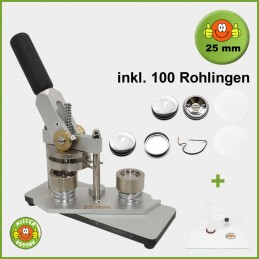 Buttonmaschine Typ 900 für 25 mm Buttons inkl. 100 Rohlinge + Kreisschneider Kreisschneider Hulahoop Mini