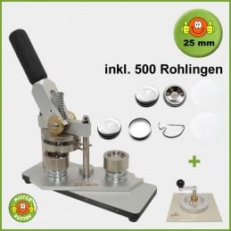 Buttonmaschine Typ 900 für 25 mm Buttons inkl. 500 Rohlinge + Kreisschneider Typ 2006