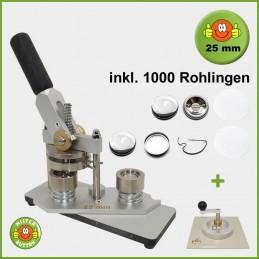 Buttonmaschine Typ 900 für 25 mm Buttons inkl. 1000 Rohlinge + Kreisschneider Typ 2006
