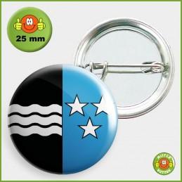 Kantonsflagge Aargau Button 25mm mit Sicherheitsnadel