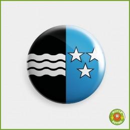 Kantonsflagge Aargau Button