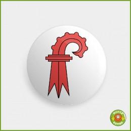 Kantonsflagge Basel-Landschaft Button