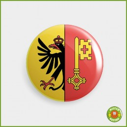 Kantonsflagge Genf / Genève Button