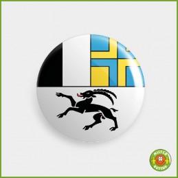 Kantonsflagge Graubünden Button