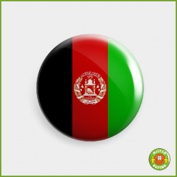 Flagge Afghanistan Button