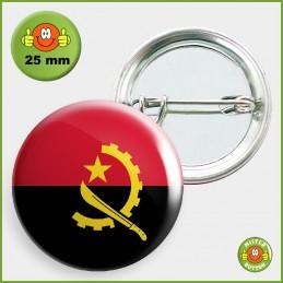 Flagge Angola Button 25mm mit Sicherheitsnadel