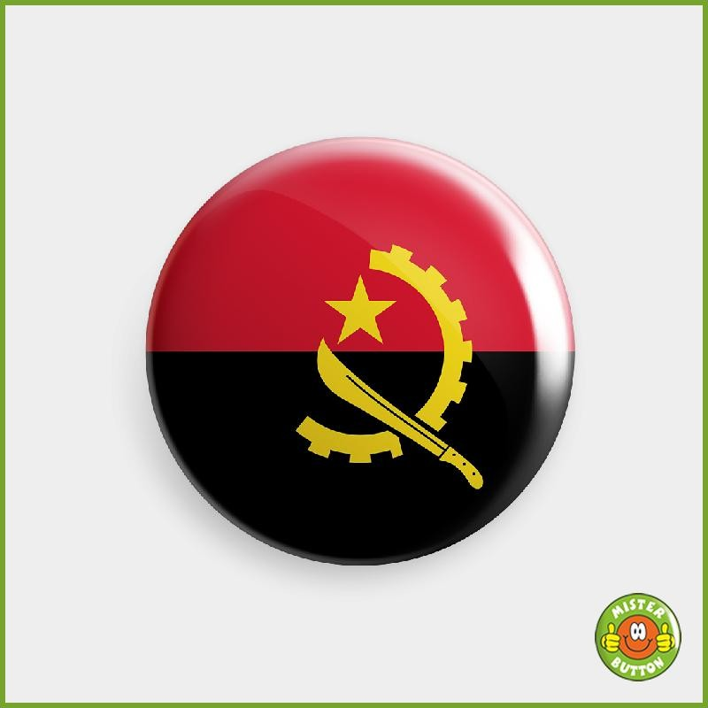 Flagge Angola Button