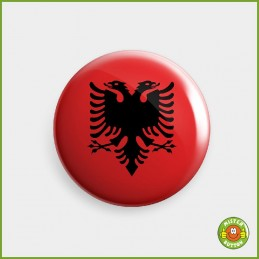 Flagge Albanien Button