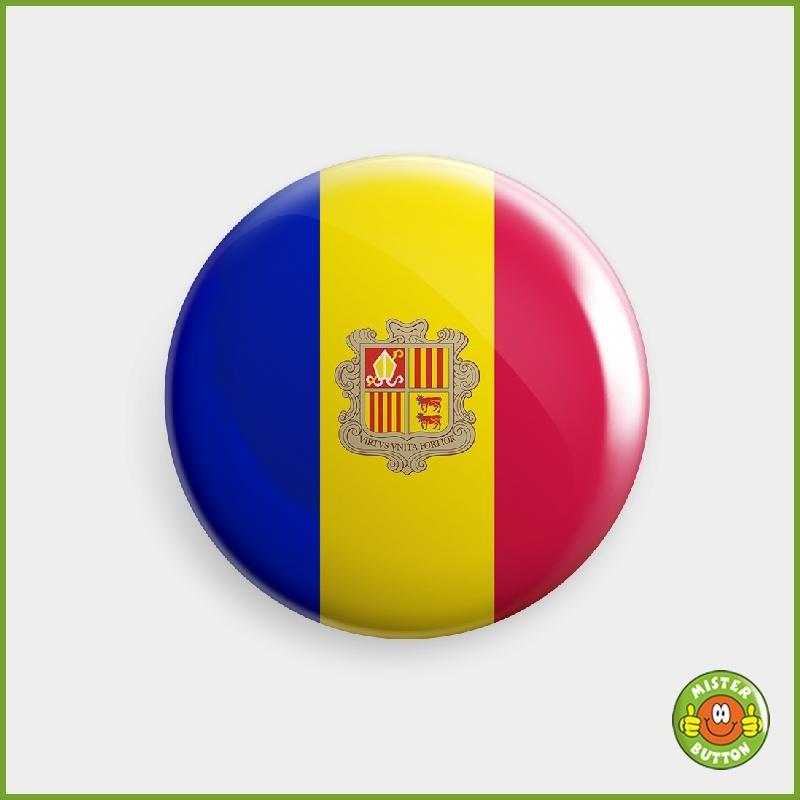 Flagge Andorra Button