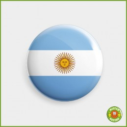 Flagge Argentinien Button
