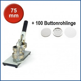 Buttonmaschine Typ 900 für 75 mm Buttons inkl. 100 Rohlinge