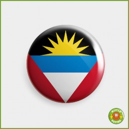 Flagge Antigua und Barbuda Button