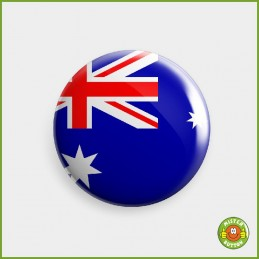 Flagge Australien Button