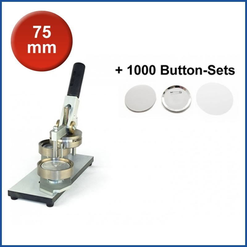 Buttonmaschine Typ 900 für 75 mm Buttons inkl. 1000 Rohlinge