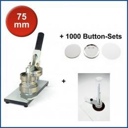 Buttonmaschine Typ 900 für 75 mm Buttons inkl. 1000 Rohlinge + Kreisschneider Hulahoop Maxi