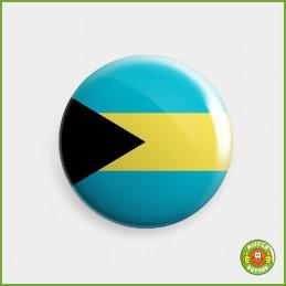Flagge Bahamas Button