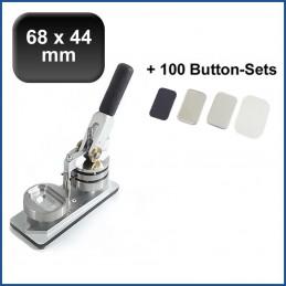 Buttonmaschine Typ 900 für 68x44mm Buttons inkl. 100 Rohlinge mit Kühlschrankmagnet