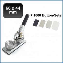 Buttonmaschine Typ 900 für 68x44mm Buttons inkl. 1000 Rohlinge mit Kühlschrankmagnet
