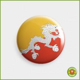 Flagge Bhutan Button