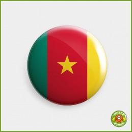 Flagge Kamerun Button