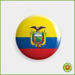 Flagge Ecuador Button