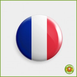 Flagge Frankreich Button