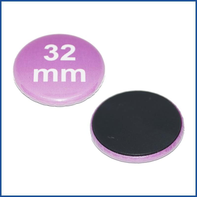 32mm Rohlinge mit Magnetrückseite
