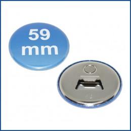 59mm Rohlinge mit Flaschenöffner + Magnet