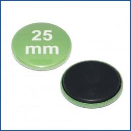 25mm Rohlinge mit Magnetrückseite