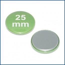 25mm Rohlinge mit flacher Metallrückseite