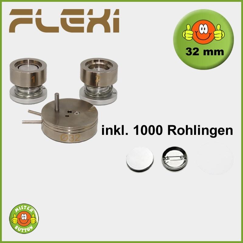 32 mm Stempelsatz 900 Flexi + 1000 Buttons