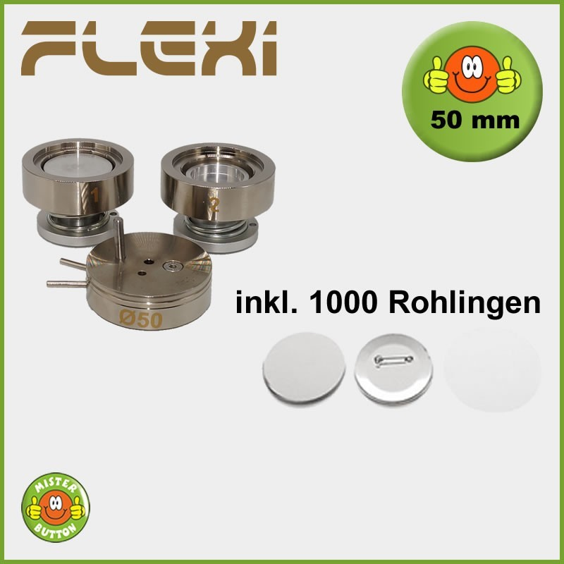 50 mm Stempelsatz 900 Flexi + 1000 Buttons