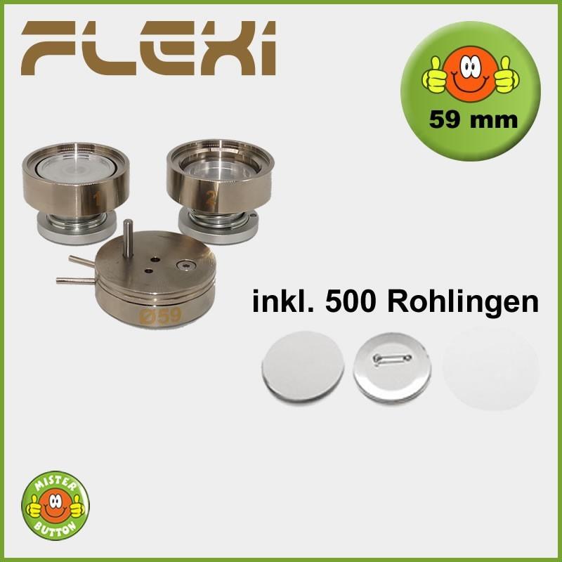 59 mm Stempelsatz 900 Flexi + 500 Buttons
