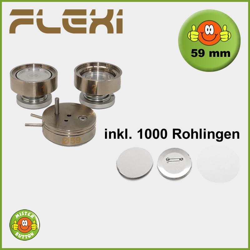 59 mm Stempelsatz 900 Flexi + 1000 Buttons