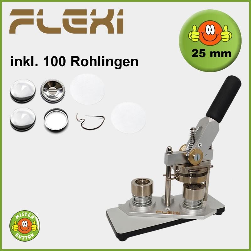 Buttonmaschine Typ 900 Flexi für 25 mm Buttons inkl. 100 Rohlinge