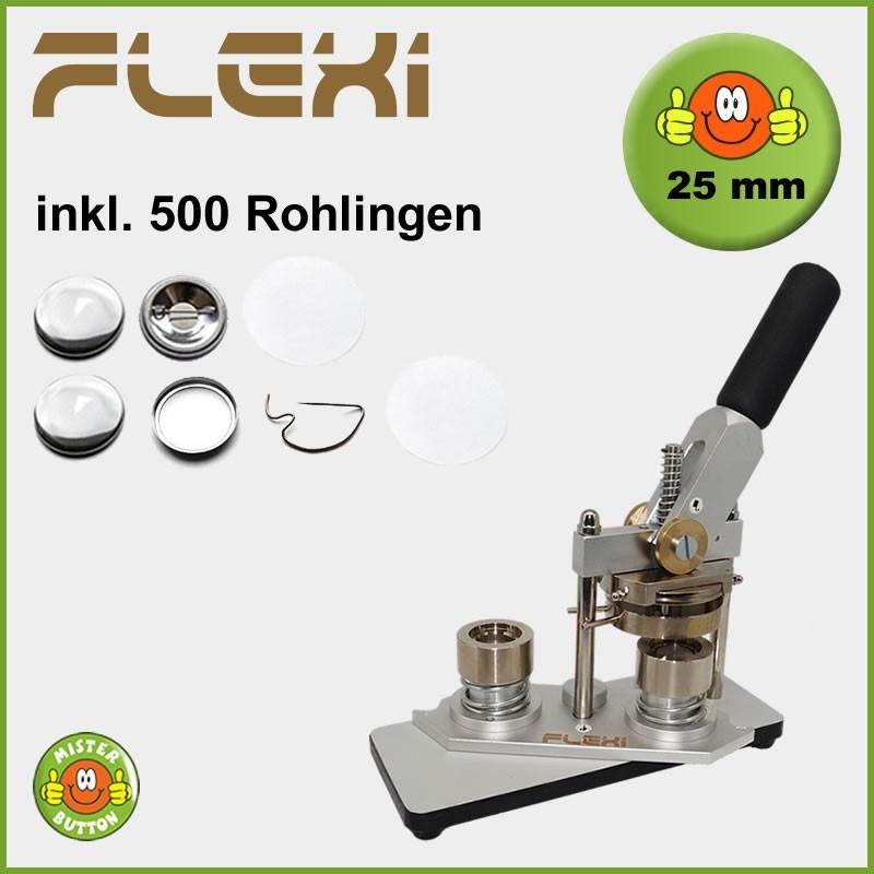 Buttonmaschine Typ 900 Flexi für 25 mm Buttons inkl. 500 Rohlinge
