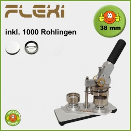 Buttonmaschine Typ 900 Flexi für 38 mm Buttons inkl. 1000 Rohlinge