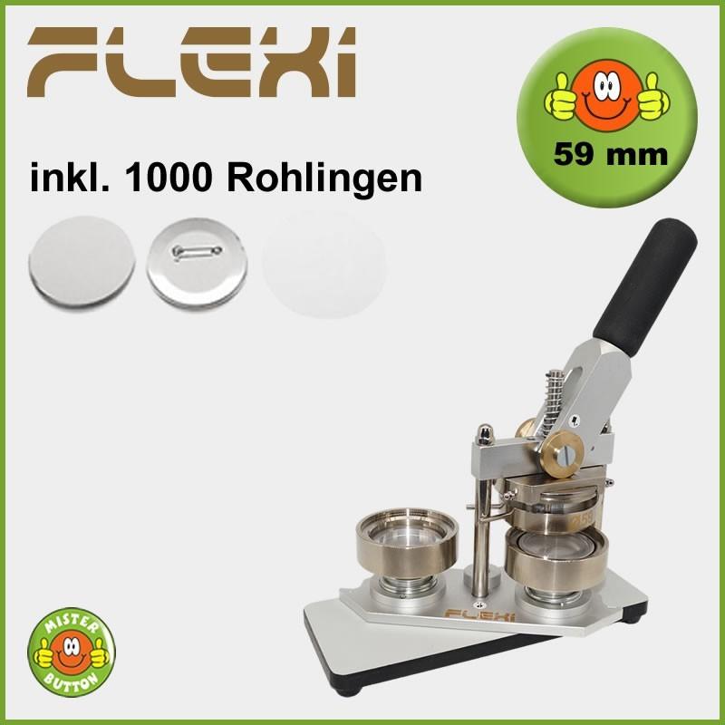 Buttonmaschine Typ 900 Flexi für 59 mm Buttons inkl. 1000 Rohlinge