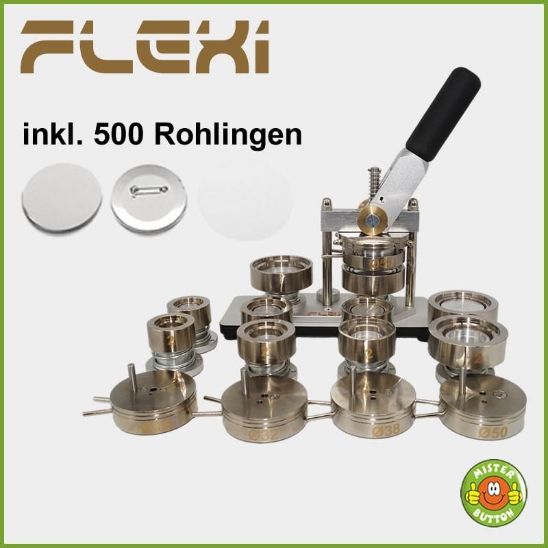 Buttonmaschine 900 Flexi 5er Pack + 500 Buttons