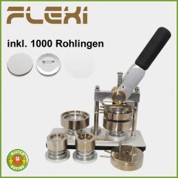 Buttonmaschine 900 Flexi Doppelpack + 1000 Buttons