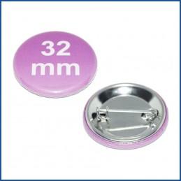 Buttons bedruckt 32mm mit Sicherheitsnadel