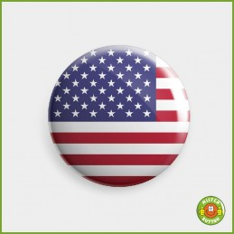 Flagge USA Button