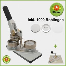 Buttonmaschine Typ 900 für 59 mm Buttons inkl. 1000 Rohlinge + Kreisschneider Typ 2006