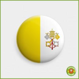 Flagge Vatikanstadt Button