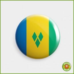 Flagge St. Vincent und die Grenadinen Button