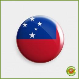 Flagge Samoa Button
