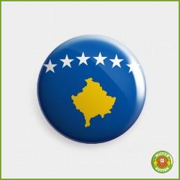 Flagge Kosovo Button