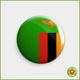 Flagge Sambia Button