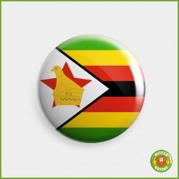 Flagge Simbabwe Button